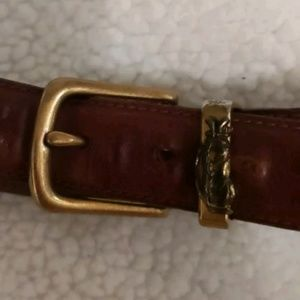Other - Golf Club Belt Head W/ Belt Full Grain Leather